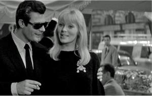 Nico & Marcello Mastroianni in Federico Fellini's La Dolce Vita